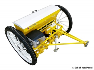 New horse-drawn seeder