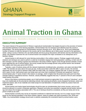 Animal Traction in Ghana