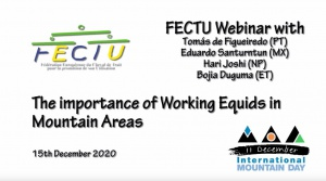 FECTU Webinar: The importance of Working Equids in Mountain Areas